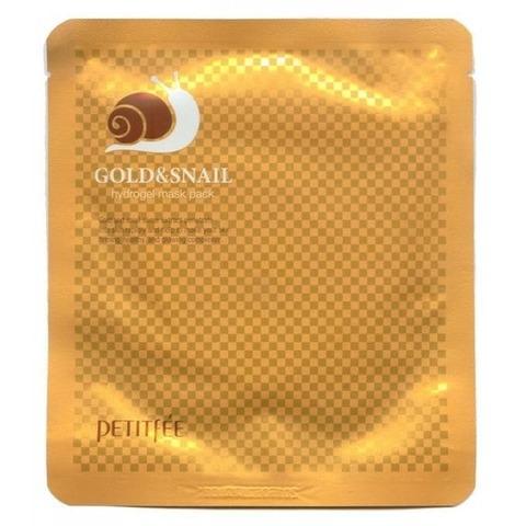 Petitfee Gold & Snail Mask Pack Маска для лица гидрогелевая с золотом и муцином улитки