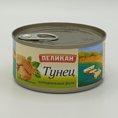 Тунец Скипджек филе натуральный ПЕЛИКАН, 185 гр