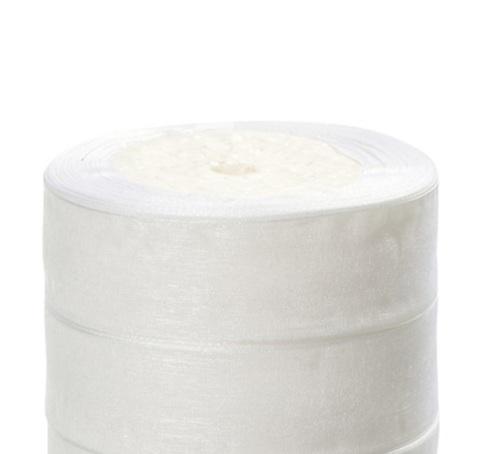 Лента органза (размер:25мм х 25 ярдов) Цвет: белый