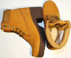 Ботинки женские на платформе зимние