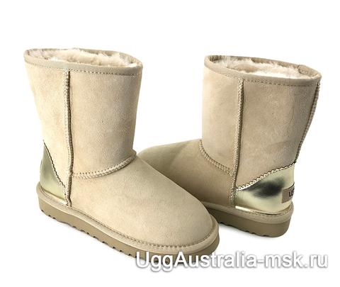 UGG Classic Short II Metallic Sand