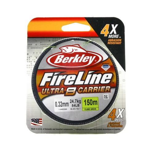 Плетеная леска Berkley Fireline Ultra 8 150M Темно-зеленая 0,32 FL Green