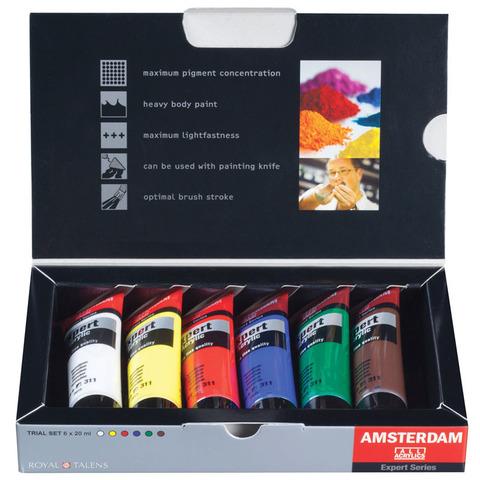 Набор акриловых красок Amsterdam Expert - 6 цветов в тубах по 20мл