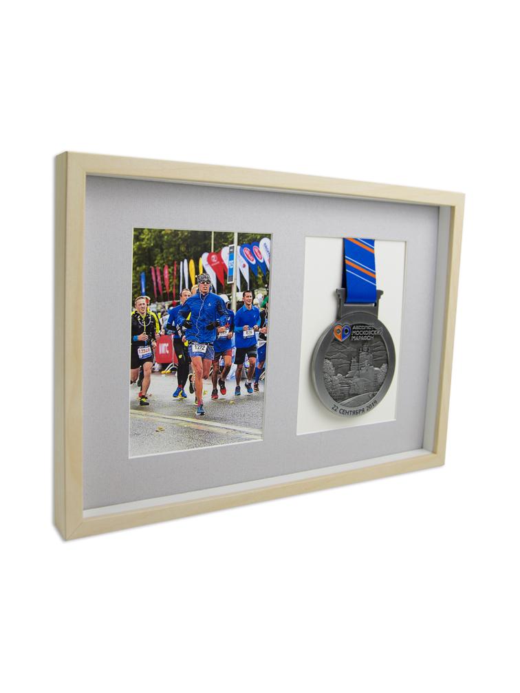 Рамка для медали и фото (береза)