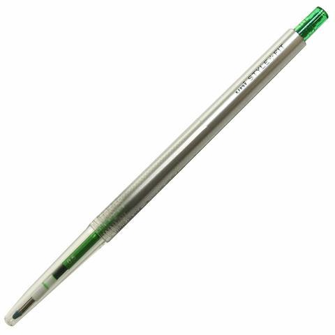 Гелевая ручка 0,5 мм Uni Style Fit - Green - зелёные чернила