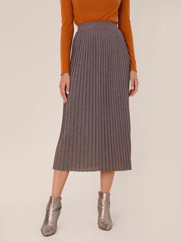 Женская юбка терракотового цвета из вискозы - фото 4