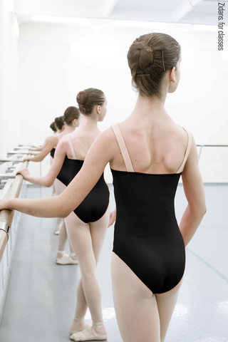 Strap leotard for classes | black