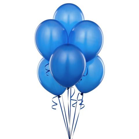 Воздушные шары с гелием синие