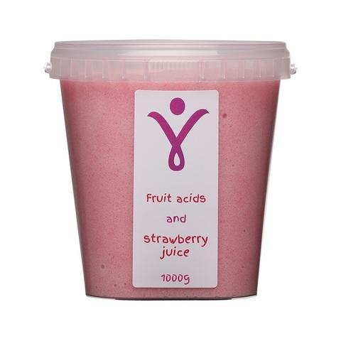Обновляющий скраб с фруктовыми кислотами и соком клубники, 1000г