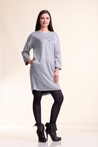Платье для беременных и кормящих 10097 серый