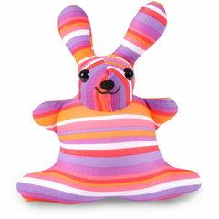 Подушка-игрушка антистресс «Розовая Полосатая Зая» 1