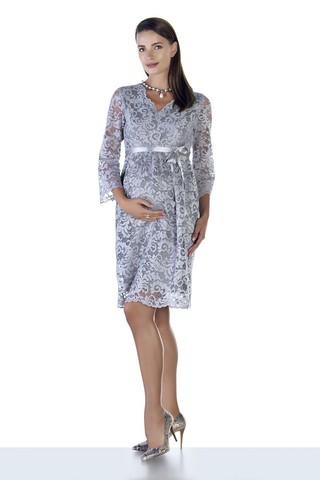 Платье для беременных 09028 серый