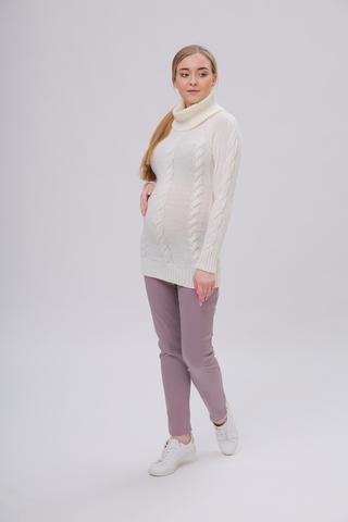 Свитер для беременных 09068 молочный