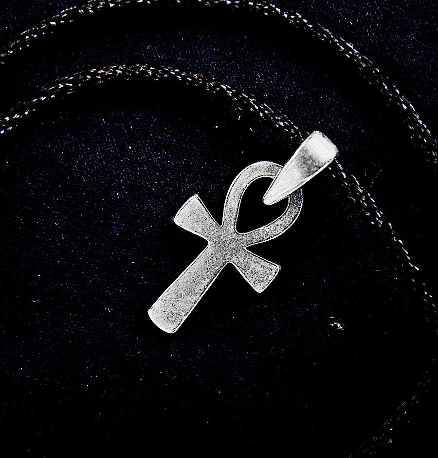 Ankh Egyptian cross pendant, sterling silver