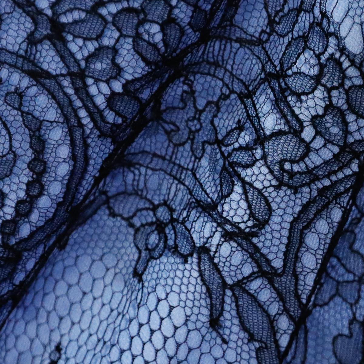 """Широкая французская лента """"Шантильи"""" с ажурным мотивом черного цвета"""