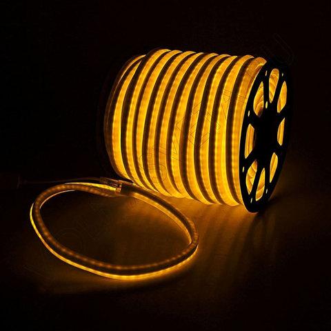 Гибкий неон 15*25 мм, светодиодный | Желтый - 50м