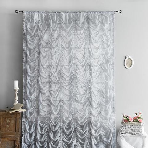 Готовая штора Амели серый