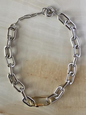 Колье Батфир, серебряный цвет