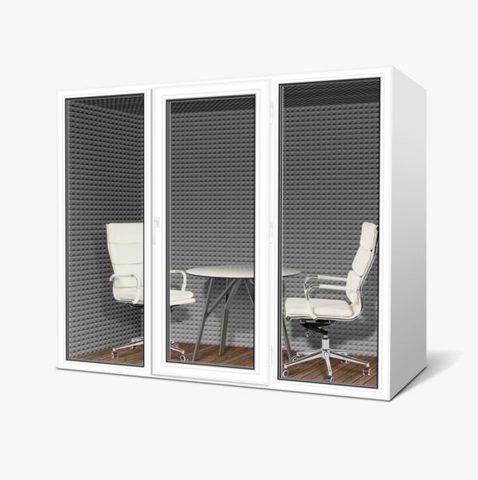 Офисная переговорная кабина  25Дб, размеры  100х200х210