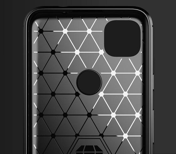 Темно-синий защитный чехол для Google Pixel 4A, серия Carbon от Caseport