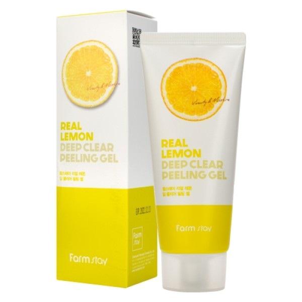 Гель отшелушивающий с экстрактом лимона FarmStay Real Lemon Deep Clear Peeling Gel