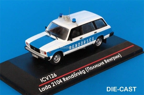 VAZ-2104 Lada Police Hungary Rendorseg 1:43 ICV126