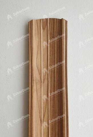Евроштакетник металлический 110 мм Светлое дерево 3D полукруглый двусторонний 0.5 мм