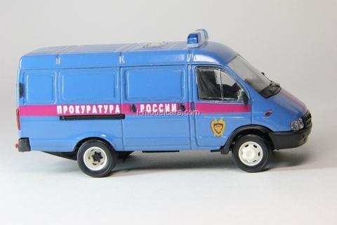 GAZ-2705 Gazelle van Prosecutor's office Russia early facing Agat Mossar Tantal 1:43
