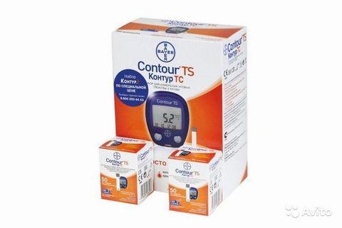 Тест-полоски Контур ТС  2 упаковки №50 + глюкометр Контур ТС в полной комплектации