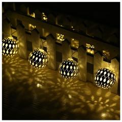 Гирлянда светодиодная с золотыми шарами 20 Led