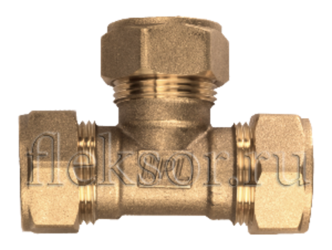 Тройник труба-труба-труба TТ 25-25-25 - Hydrosta Flexy