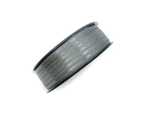 Атласная лента 3,5 мм, темно-серая