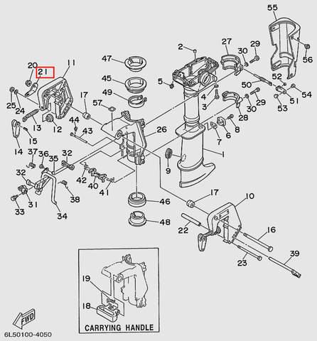 Пластина зажима кронштейна  для лодочного мотора T3 SEA-PRO (15-21)