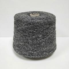 FB Silk, Filati Buratti, Шёлк 100%, Буретный твидовый серый с черным, 780 м в 100 г