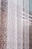 Тюль сетка с вышивкой Веточки-2 (белый)