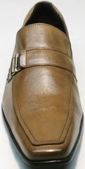 Классические туфли мужские кожаные коричневые Mariner 12211 Light Brown