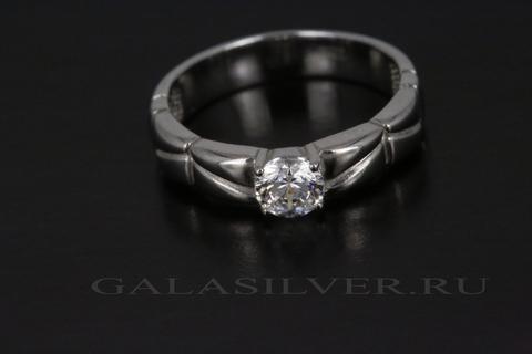Кольцо с кристаллом Сваровски из серебра 925