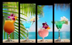 """Модульная картина """"Пляжные коктейли"""""""