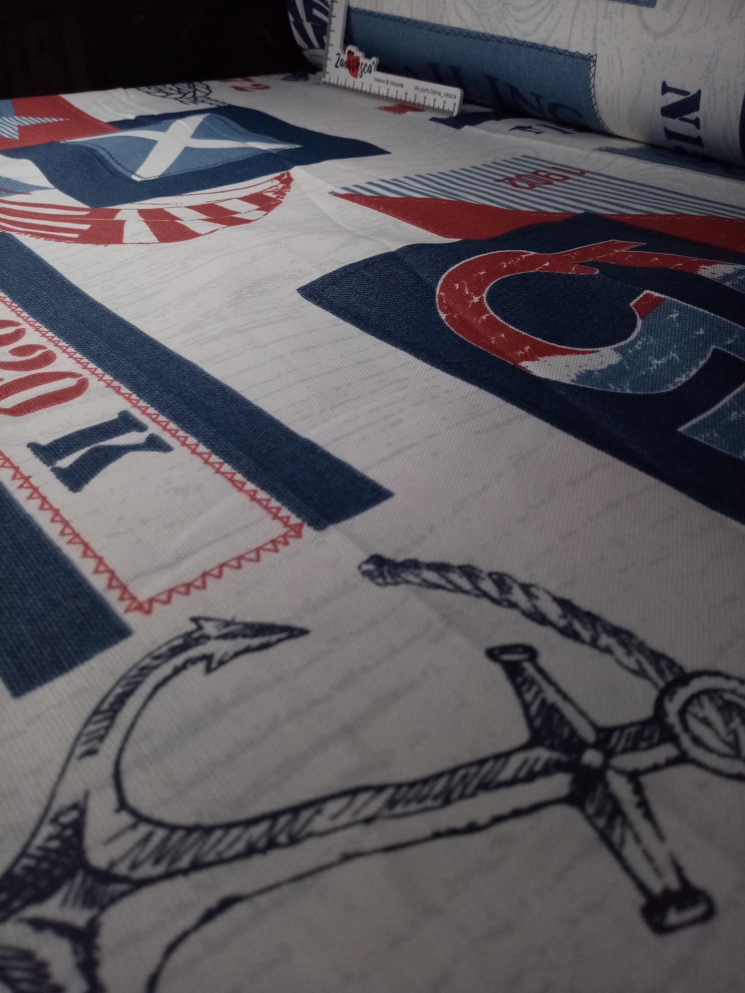 Ткань duck с тефлоновой пропиткой Яхт-клуб