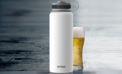 Термос Asobu Mighty flask (1,1 литра), белый