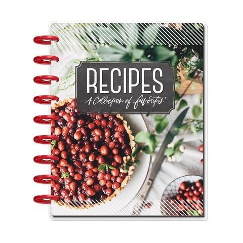 Книга для записи кулинарных рецептов Happy Planner 12-Month Undated Medium Planner- 19,3 х 24,3см. - Cooking