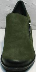 Модные туфли женские каблук 5 см демисезонные Miss Rozella 503-08 Khaki.