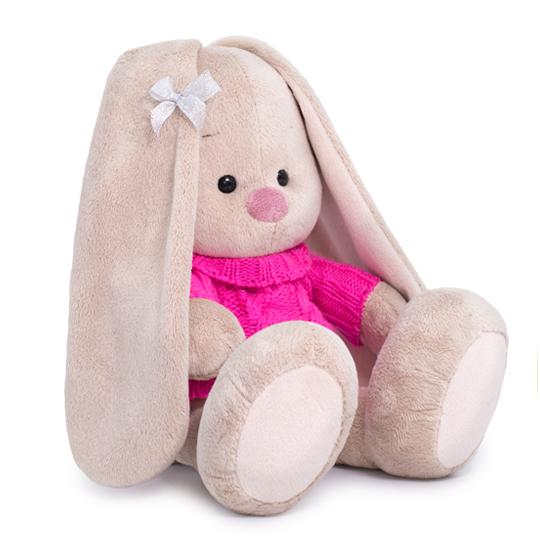 Зайка Ми в розовом свитере