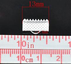 Зажим для ленты 13 мм серебро