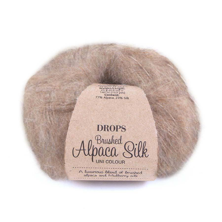 Пряжа Drops Brushed Alpaca Silk 05 молочный шоколад