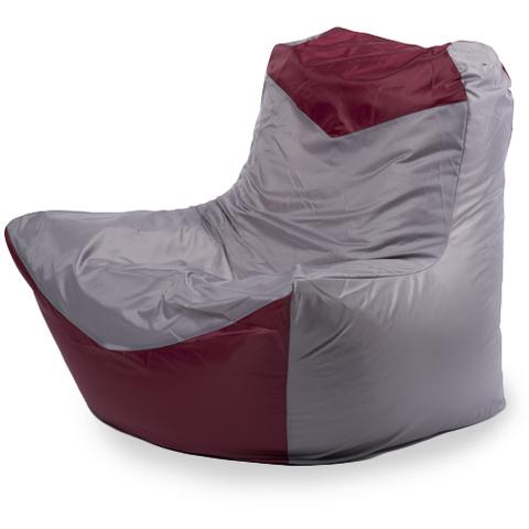 Внешний чехол Кресло-мешок классическое  100x100x110, Оксфорд Серый и бордовый