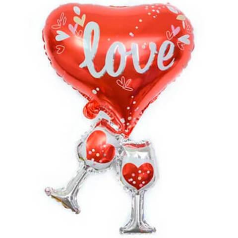 Фигура фольга Бокалы любви