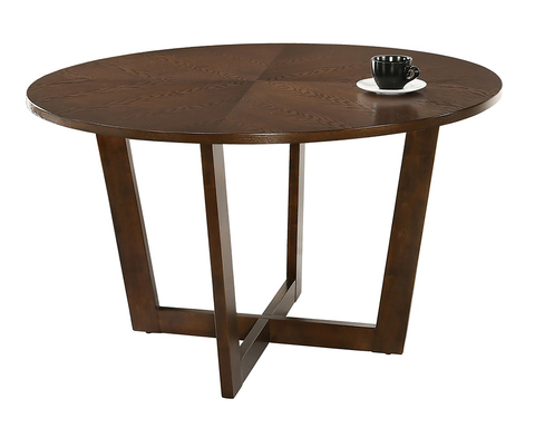 Круглый обеденный стол Borneo из массива гевеи