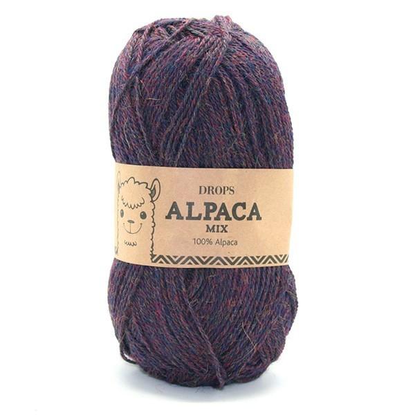 Пряжа Drops Alpaca 6736 фиолетово-синий меланж