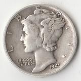K9184, 1941, США, 10 центов дайм серебро